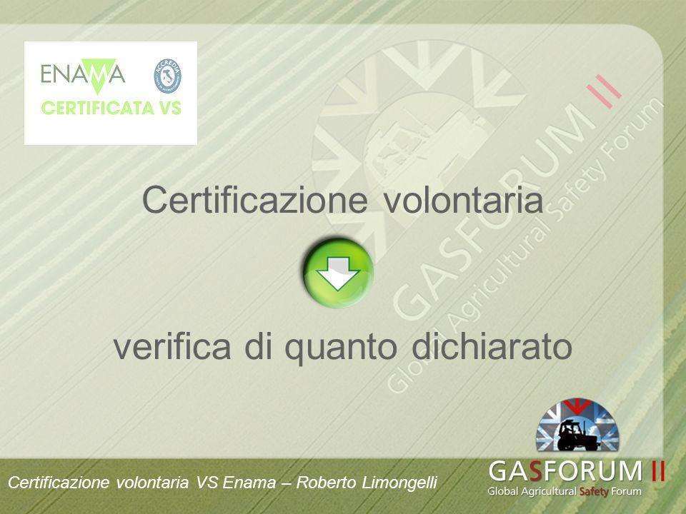 Certificazione volontaria verifica di quanto dichiarato Certificazione volontaria VS Enama – Roberto Limongelli