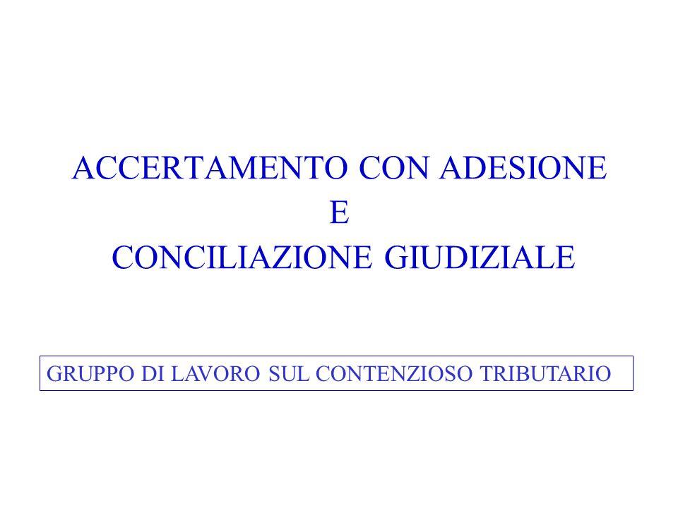 ACCERTAMENTO CON ADESIONE AMBITO OGGETTIVO DI APPLICAZIONE (ART.