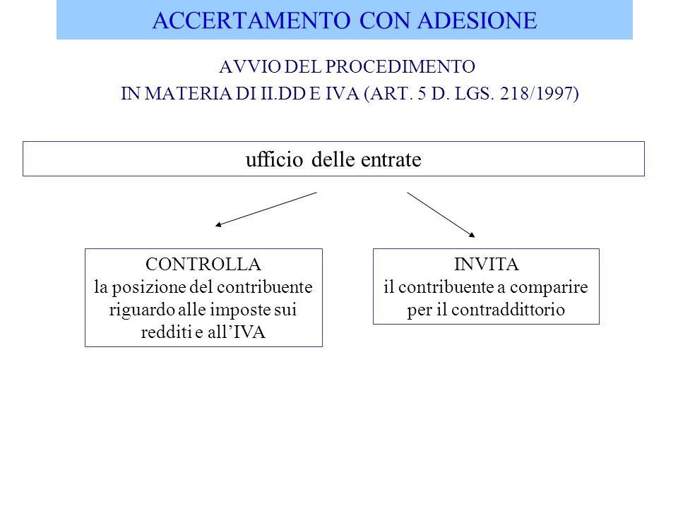ACCERTAMENTO CON ADESIONE DEFINIZIONE DELLACCERTAMENTO AI FINI II.DD.