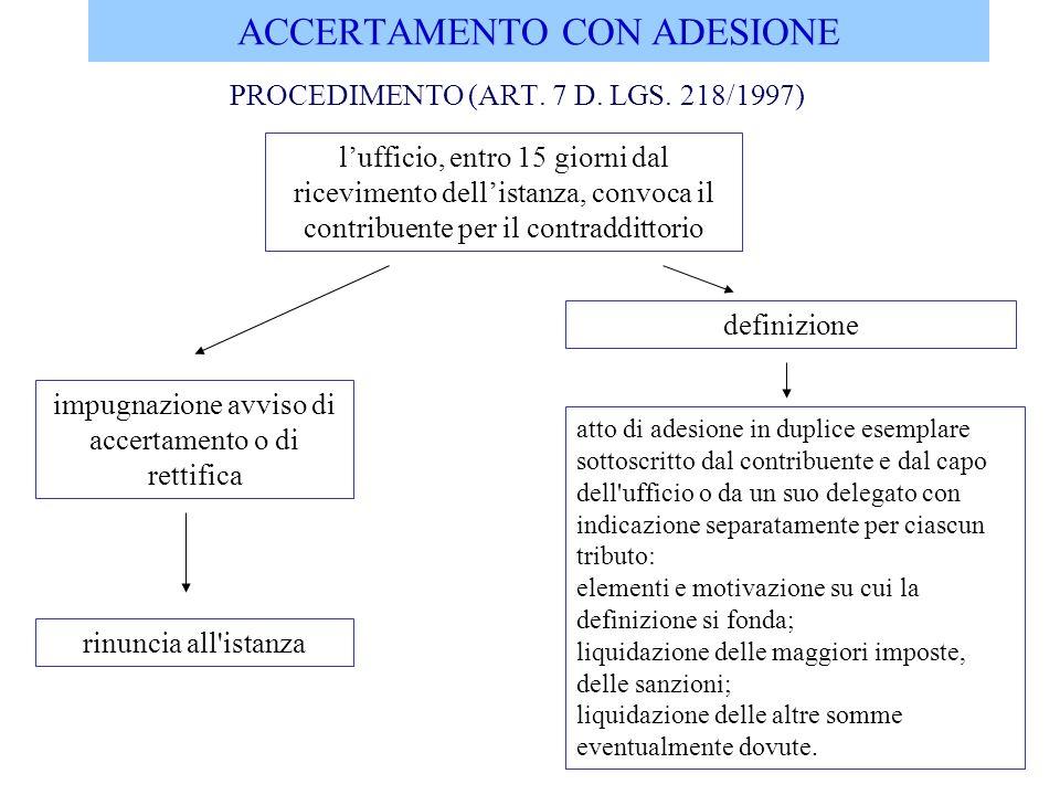 ACCERTAMENTO CON ADESIONE PERFEZIONAMENTO (ART.8 E 9 D.