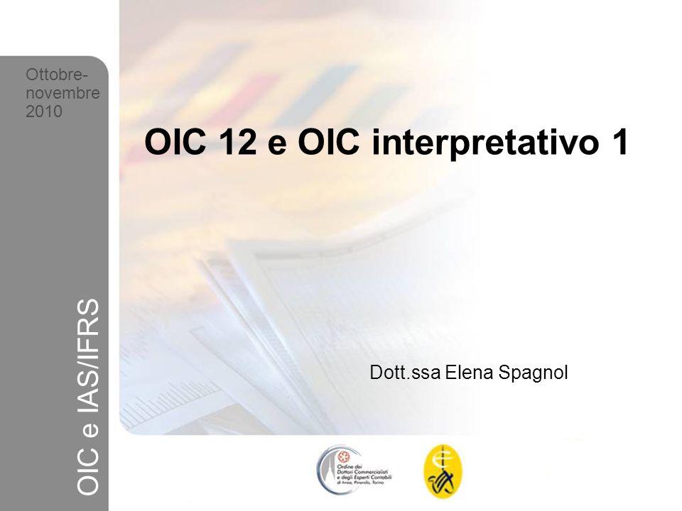 12 Ottobre-novembre 2010 OIC e IAS/IFRS C15) prassi contabile e fattispecie Dividendi - segue 6 In caso di dividendo percepito da soggetto estero possibile contabilizzazione del credito dimposta Informativa nella Nota Integrativa (art.