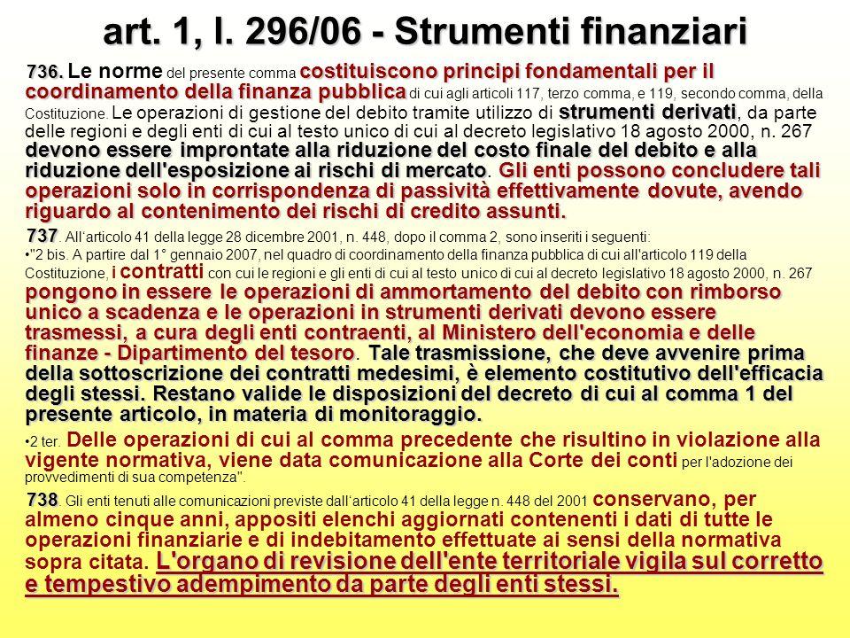 art. 1, l. 296/06 - Strumenti finanziari 736.