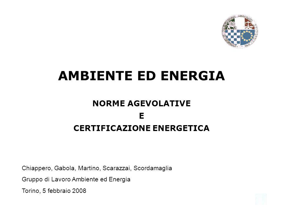 2 INDICE DELLINTERVENTO 1.CERTIFICAZIONE ENERGETICA Quadro normativo Che cosè 2.AGEVOLAZIONI NAZIONALI Finanziaria 2007 e 2008 Conto Energia 3.AGEVOLAZIONI REGIONALI Riferimenti normativi Incentivi