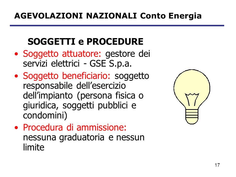 18 AGEVOLAZIONI NAZIONALI Conto Energia DISCIPLINA FISCALE IMPRESE – IVA Conto Energia escluso dal campo di applicazione dellimposta ai sensi dellart.