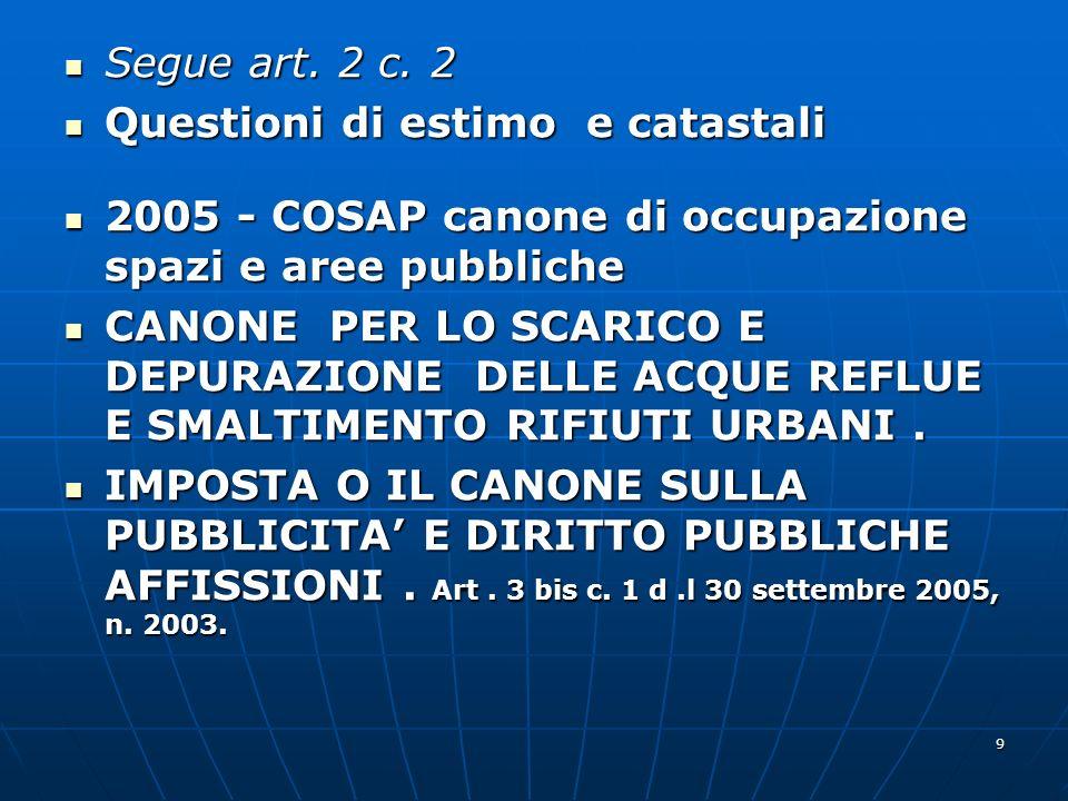 10 Segue c.2 Segue c.2 D.l.n.223/2006. conv L.