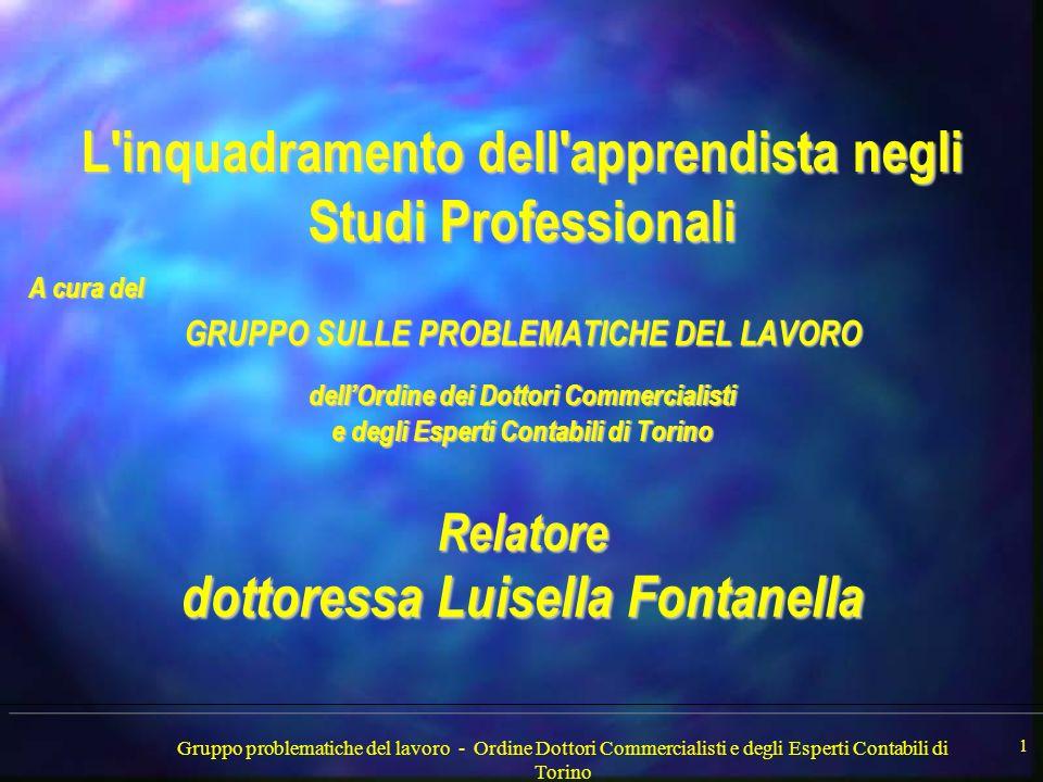 Gruppo problematiche del lavoro - Ordine Dottori Commercialisti e degli Esperti Contabili di Torino 2