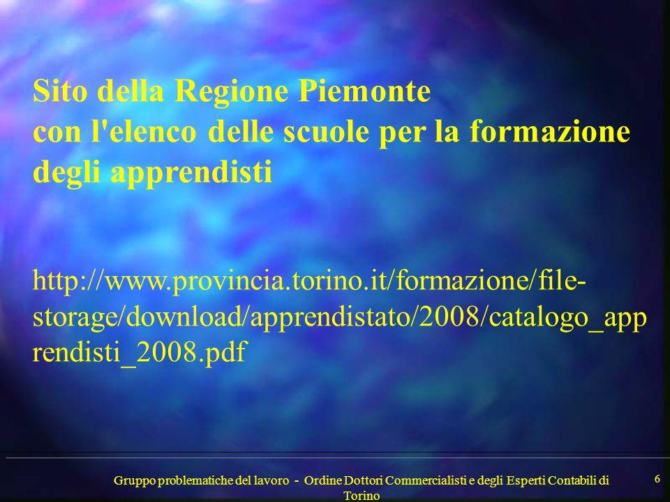 Gruppo problematiche del lavoro - Ordine Dottori Commercialisti e degli Esperti Contabili di Torino 7
