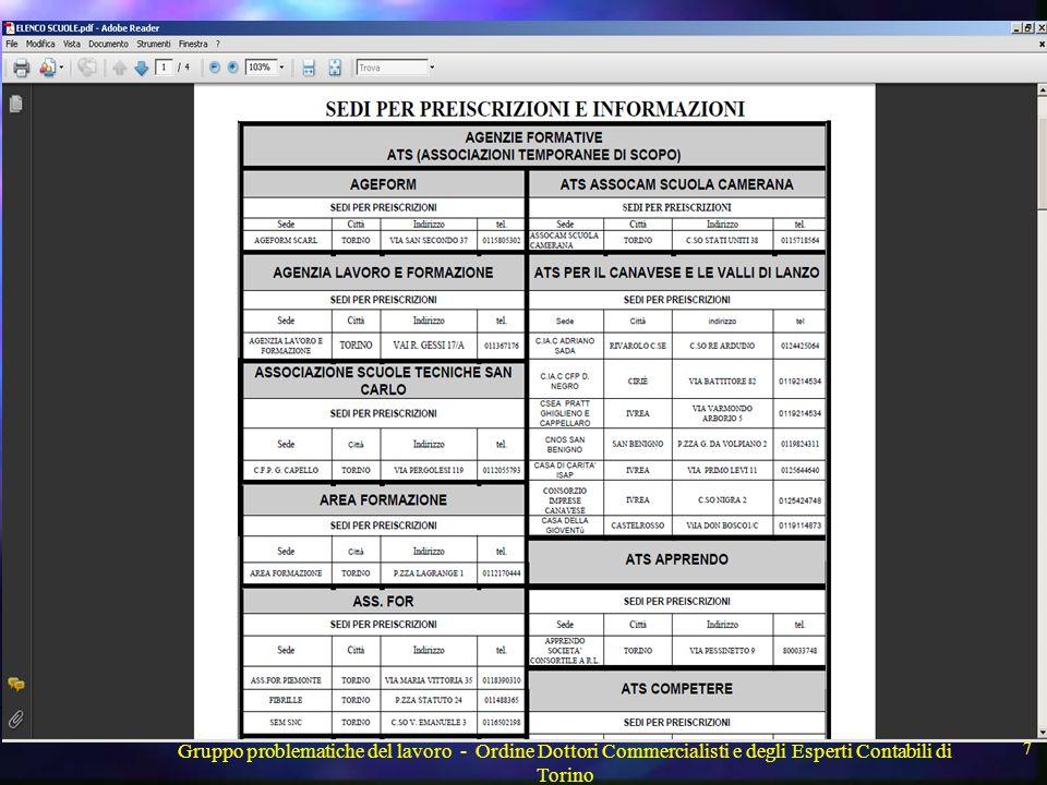 Gruppo problematiche del lavoro - Ordine Dottori Commercialisti e degli Esperti Contabili di Torino 18 Qualificazione dell apprendista e mansioni per avere le agevolazioni Con sentenza n.