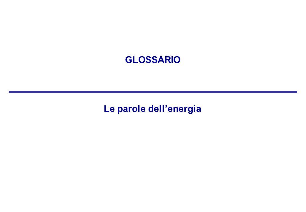 Le parole dellenergia GLOSSARIO