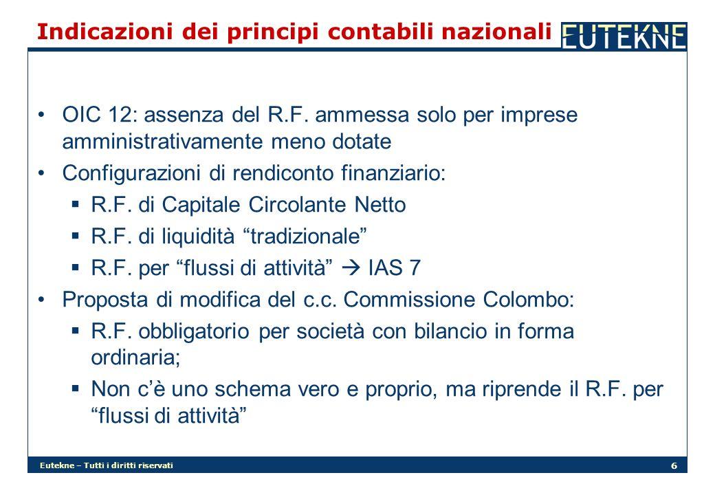 Eutekne – Tutti i diritti riservati 6 Indicazioni dei principi contabili nazionali OIC 12: assenza del R.F. ammessa solo per imprese amministrativamen