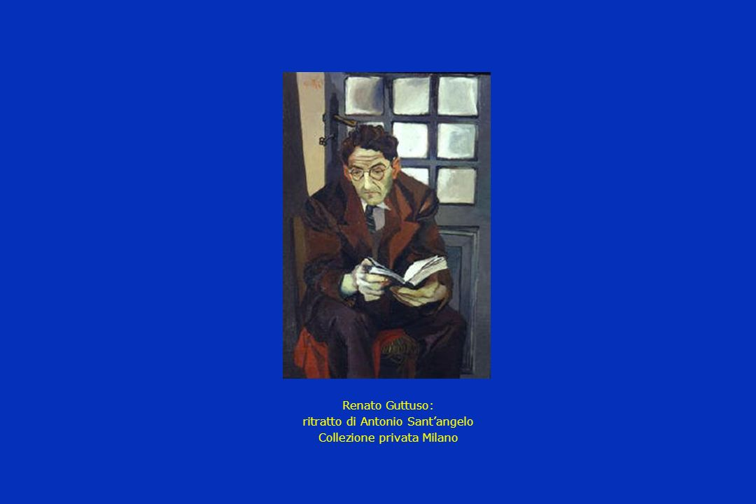 Renato Guttuso: ritratto di Antonio Santangelo Collezione privata Milano