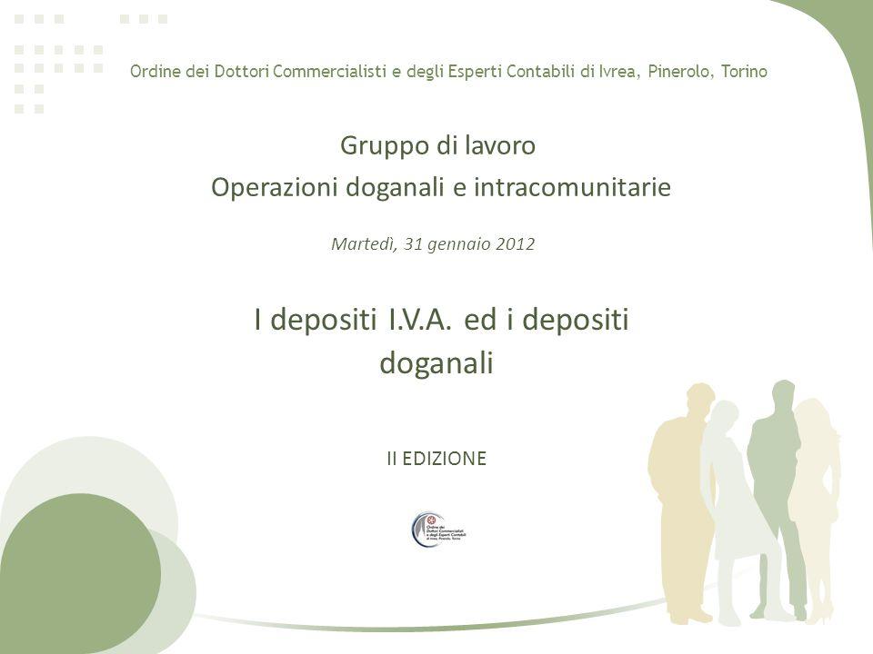 Esempio fatturazione senza deposito IVA Soc.A Srl Via Roma, 1 10100 Torino C.F.