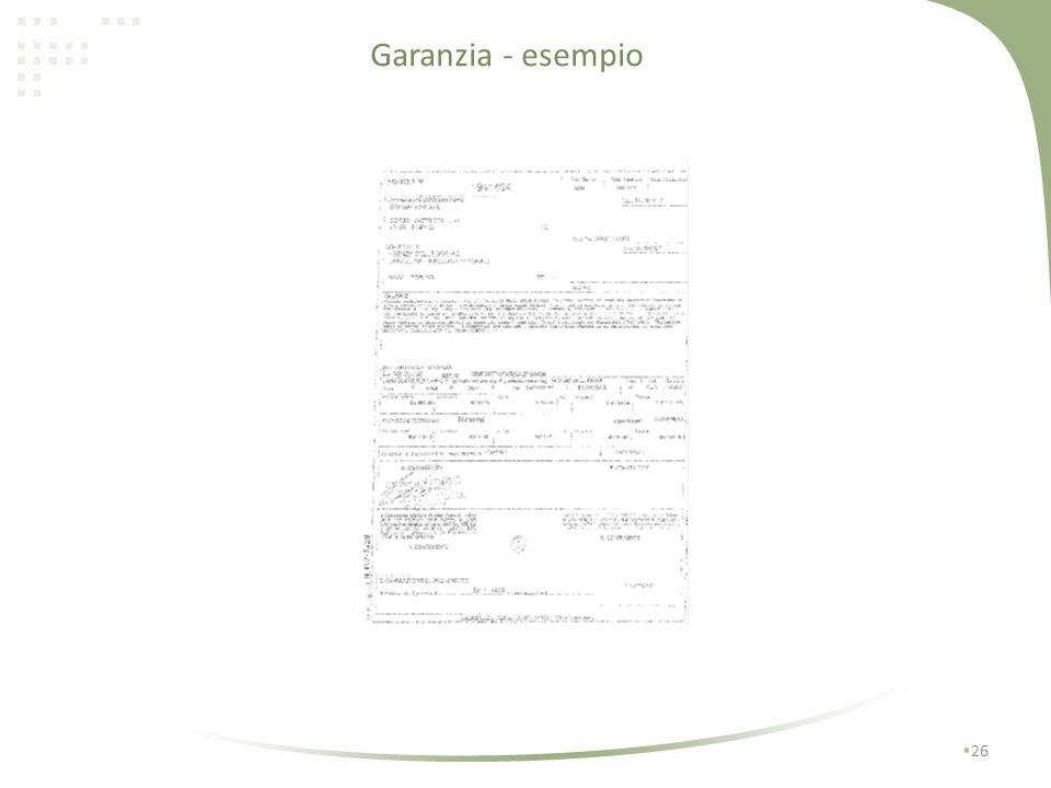 25 La garanzia sarà successivamente svincolata, interamente o parzialmente, a conclusione degli adempimenti connessi allestrazione totale o parziale d
