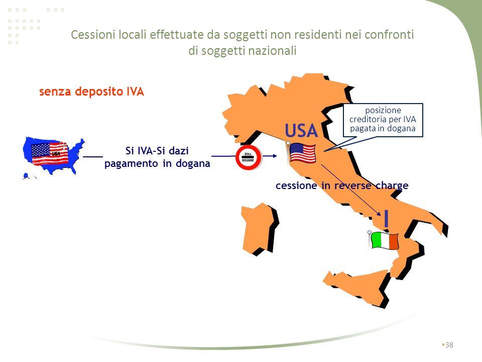 37 Cessioni locali effettuate da soggetti non residenti nei confronti di soggetti nazionali D.Lgs. n. 18 dell 11/02/2010 che ha implementato lart. 194