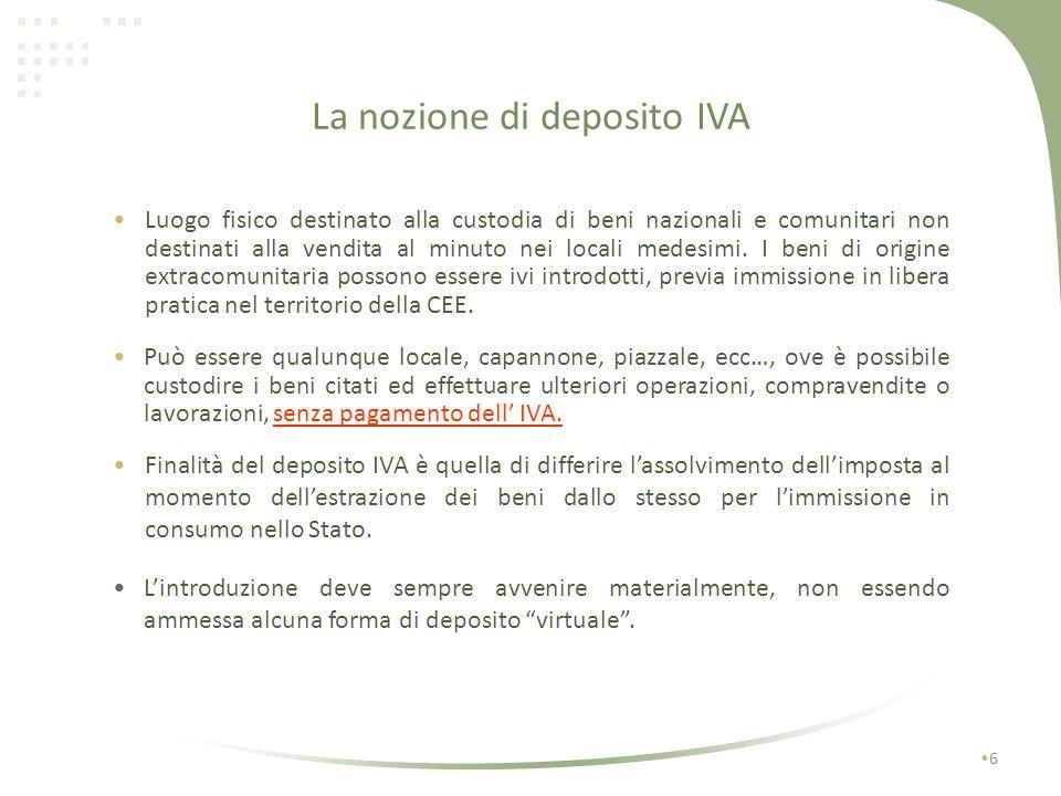 Esempio fatturazione con deposito IVA Soc.A Srl Via Roma, 1 10100 Torino C.F.