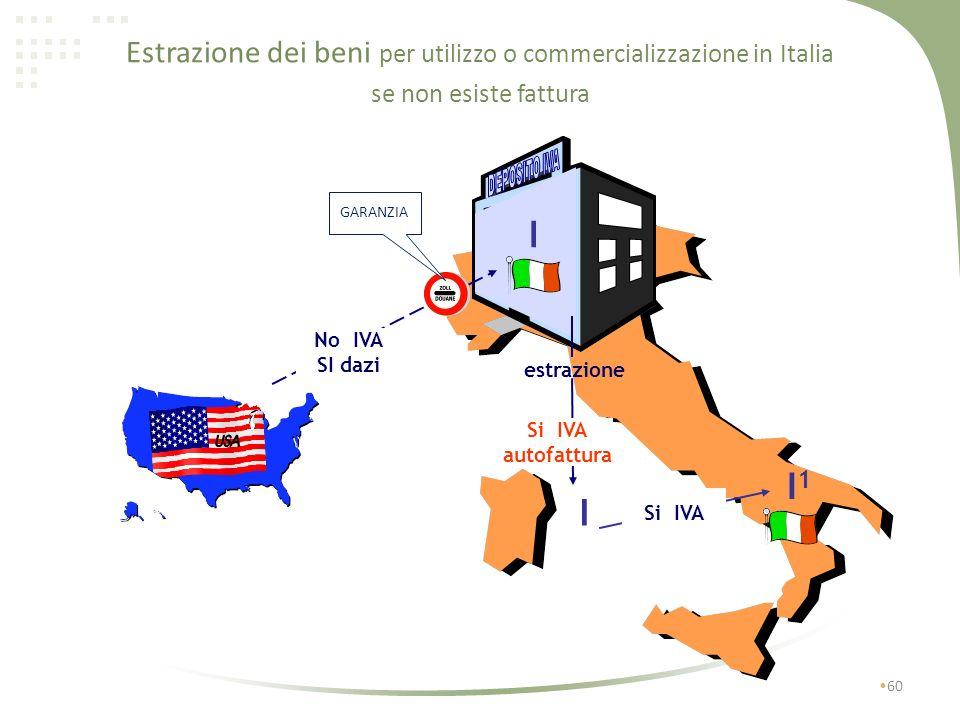 Estrazione dei beni 59 per utilizzo o commercializzazione in Italia da parte del soggetto che li ha immessi o li ha acquistati allinterno del deposito