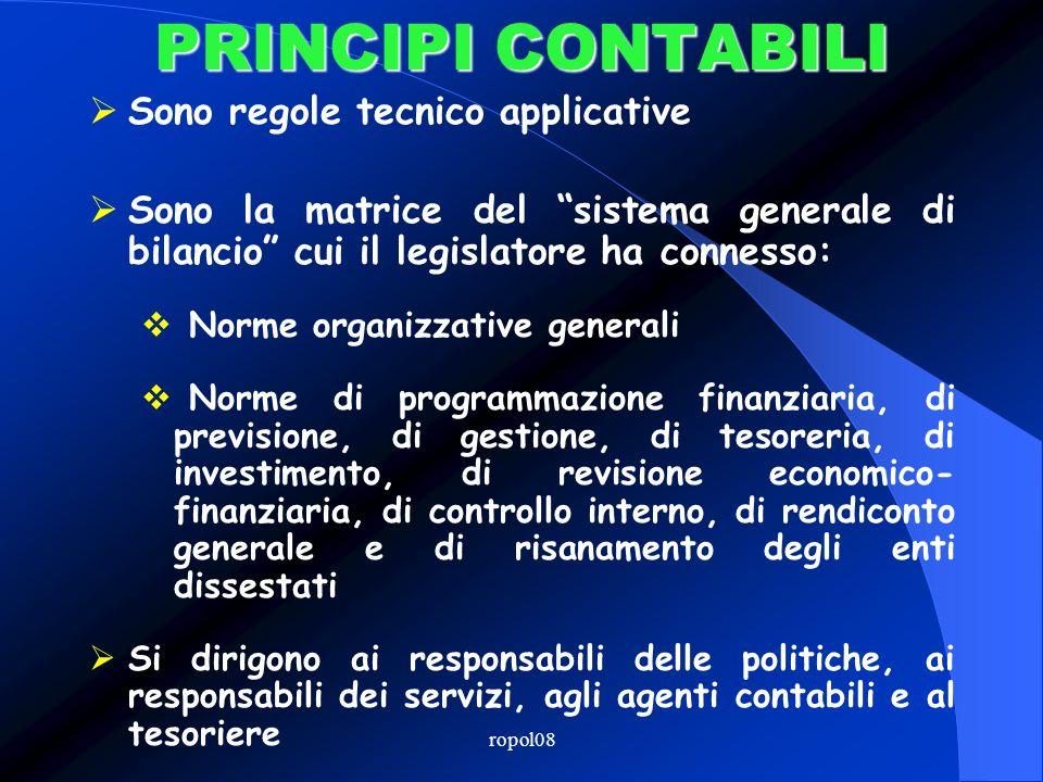 ropol08 I PRINCIPI CONTABILI approvati dallOsservatorio per la finanza e la contabilità degli enti locali www.mininterno.it