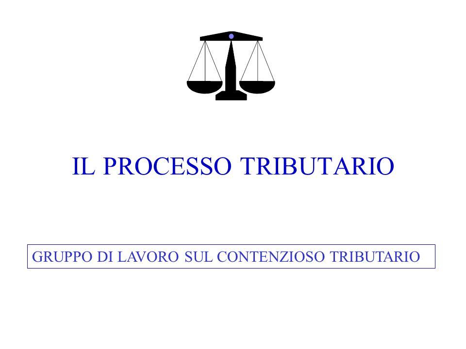 IL PROCESSO TRIBUTARIO GRUPPO DI LAVORO SUL CONTENZIOSO TRIBUTARIO