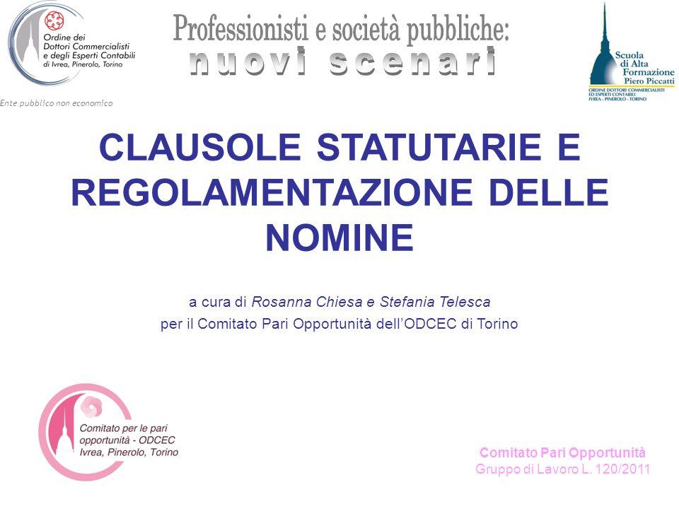 Ente pubblico non economico Comitato Pari Opportunità Gruppo di Lavoro L.
