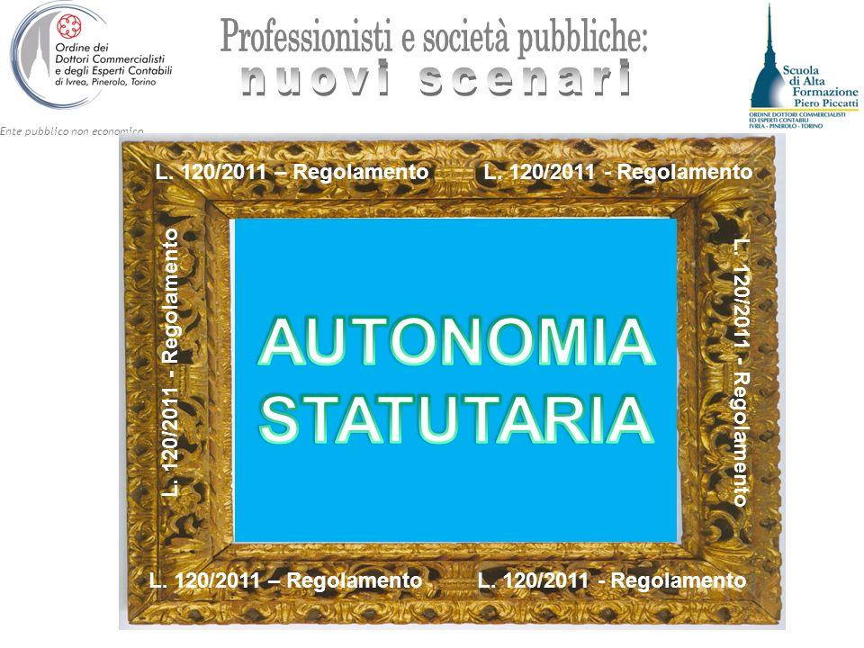 Ente pubblico non economico L. 120/2011 – Regolamento L.