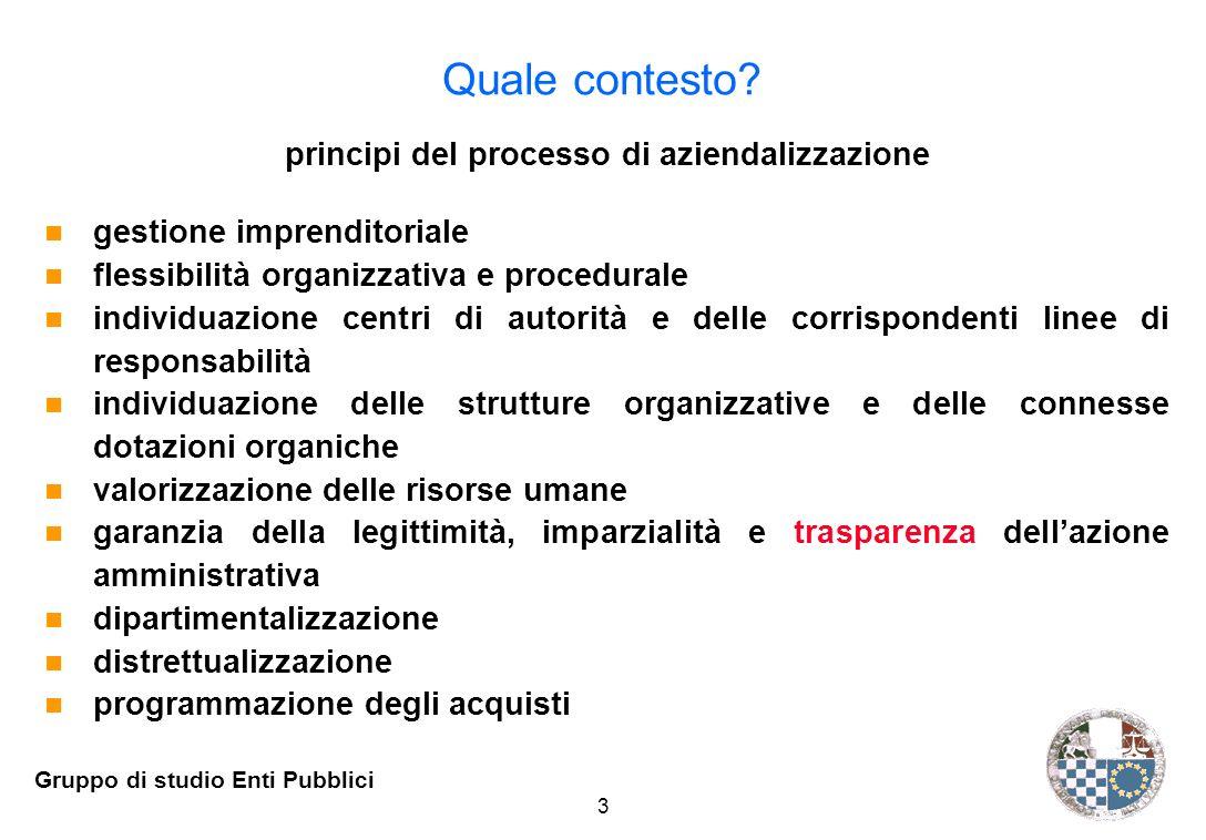 3 Gruppo di studio Enti Pubblici Quale contesto.