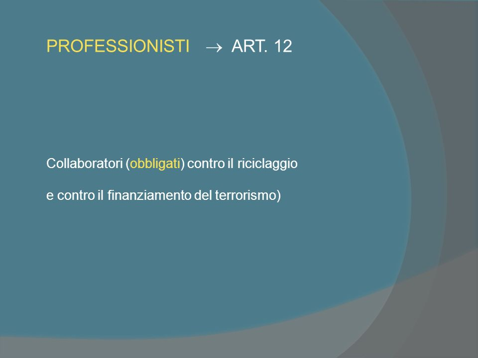 PROFESSIONISTI ART.