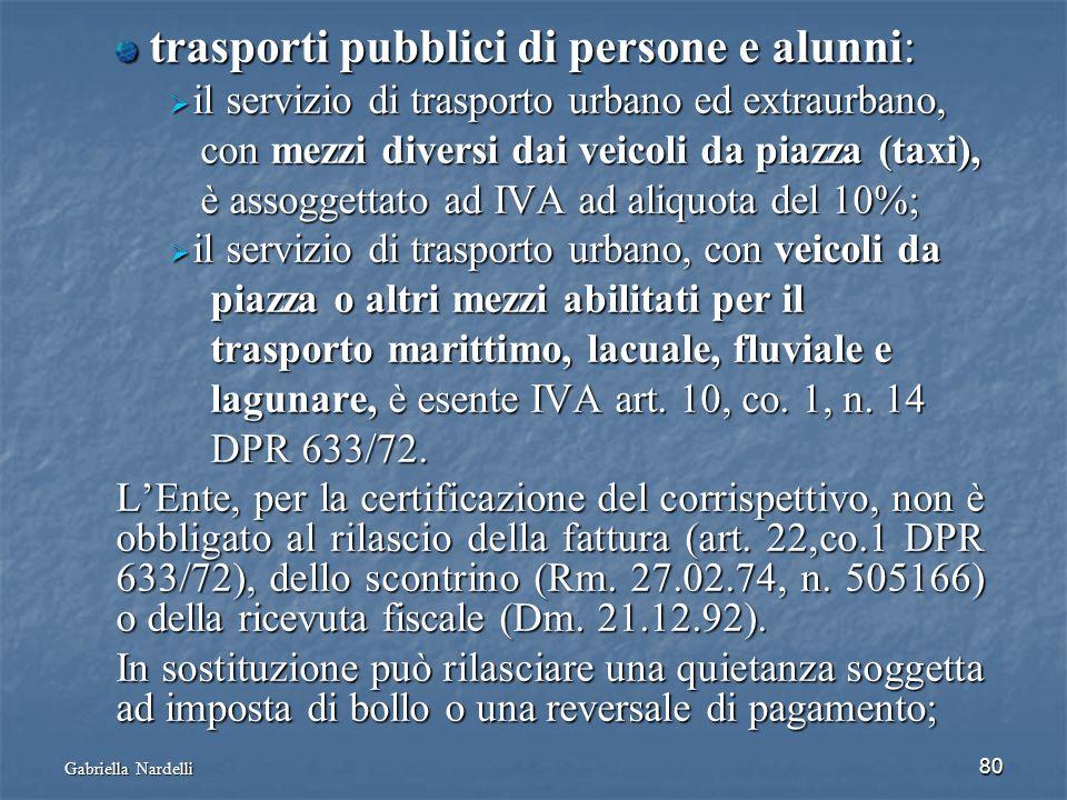 Gabriella Nardelli 80 trasporti pubblici di persone e alunni: trasporti pubblici di persone e alunni: il servizio di trasporto urbano ed extraurbano,