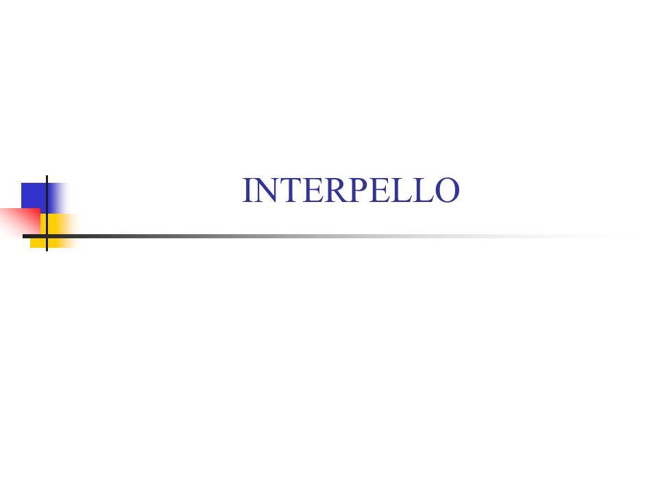 INTERPELLO