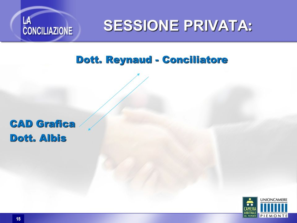 15 SESSIONE PRIVATA : Dott. Reynaud - Conciliatore CAD Grafica Dott. Albis