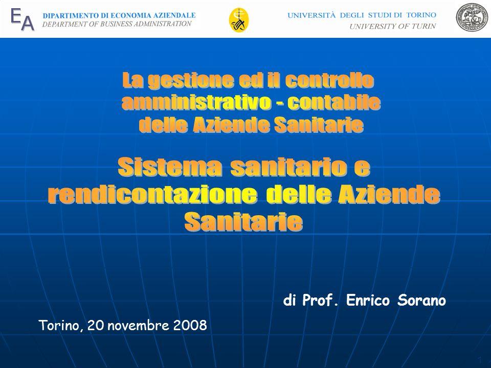 1 di Prof. Enrico Sorano Torino, 20 novembre 2008