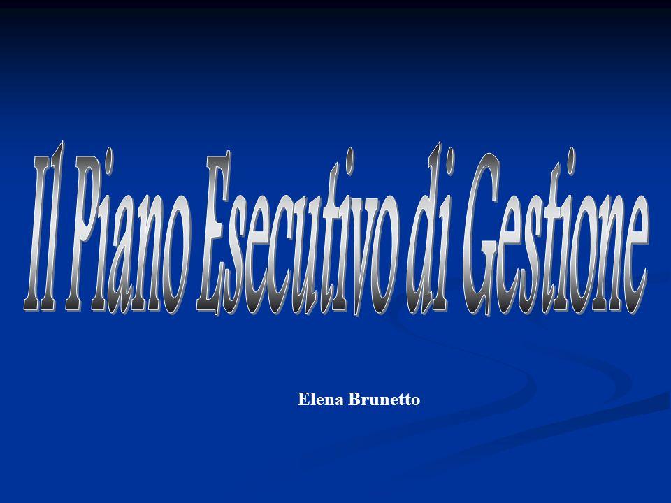 2 P.E.G.: Piano Esecutivo di Gestione Strumento attraverso il quale la Giunta, sulla base del Bilancio di Previsione e della Relazione Previsionale e Programmatica, assegna ai Dirigente le risorse (finanziarie, umane e strumentali) per il raggiungimento di obiettivi definiti.