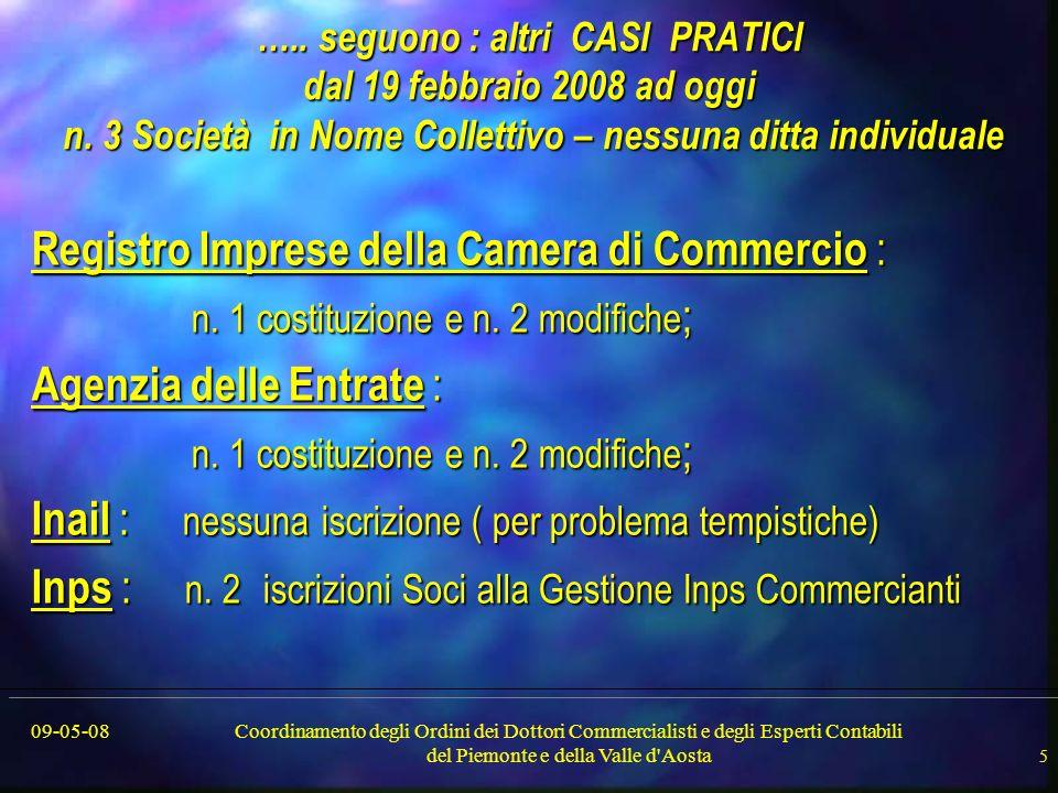 09-05-08Coordinamento degli Ordini dei Dottori Commercialisti e degli Esperti Contabili del Piemonte e della Valle d Aosta 5 …..