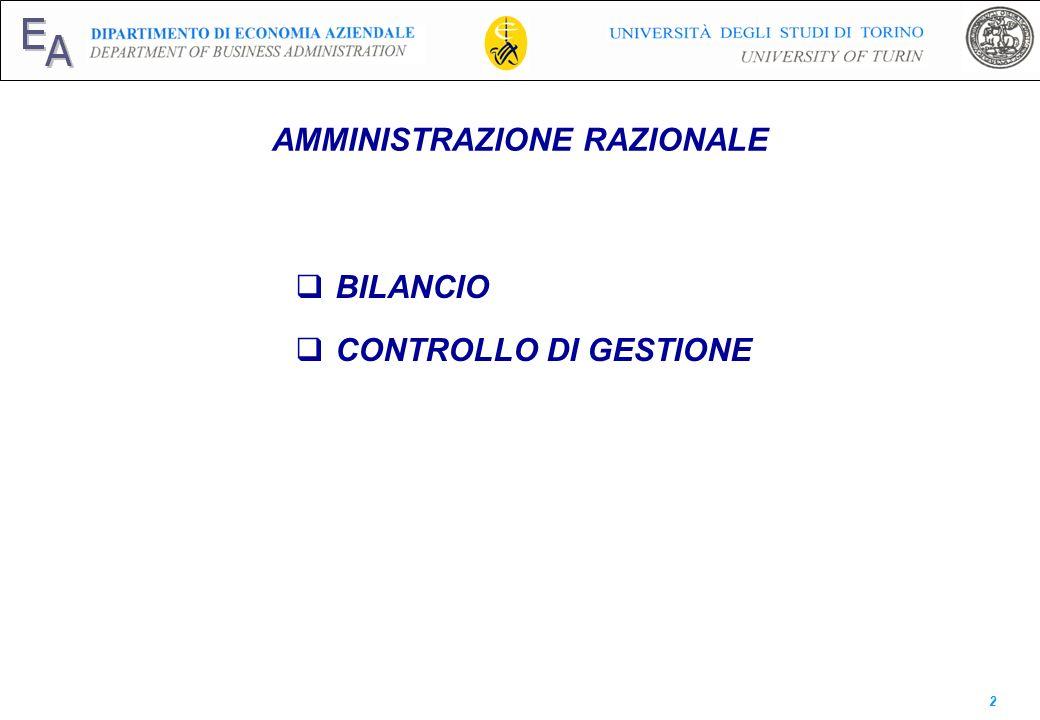 E A AMMINISTRAZIONE RAZIONALE BILANCIO CONTROLLO DI GESTIONE 2