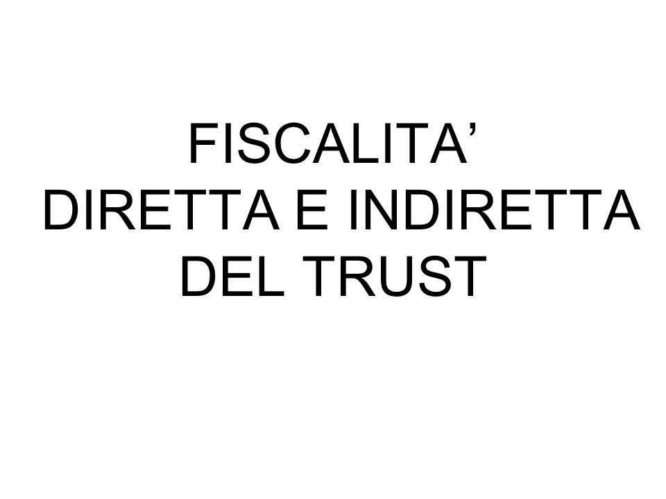 La costituzione in trust a favore dei discendenti del settlor non è soggetto ad imposta quando abbia ad oggetto aziende o rami di esse, quote sociali e azioni.