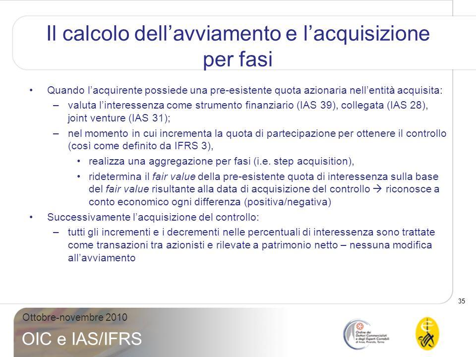 36 Ottobre-novembre 2010 OIC e IAS/IFRS IAS 27 (r2008): che cosa è cambiato.