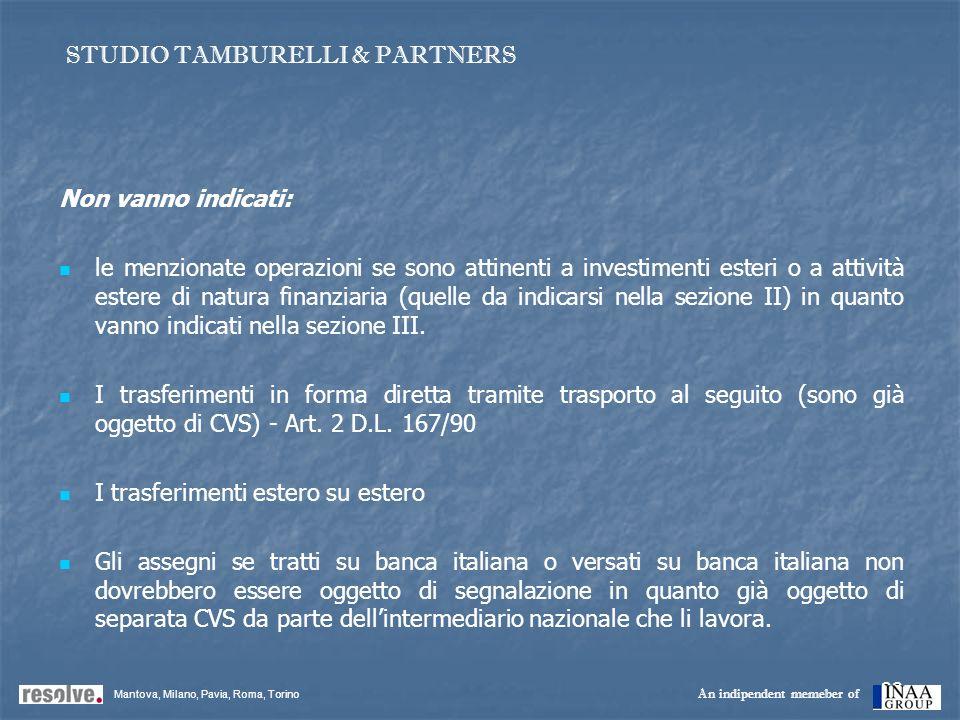22 Non vanno indicati: le menzionate operazioni se sono attinenti a investimenti esteri o a attività estere di natura finanziaria (quelle da indicarsi