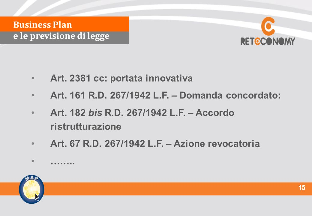 15 Art cc: portata innovativa Art. 161 R.D.