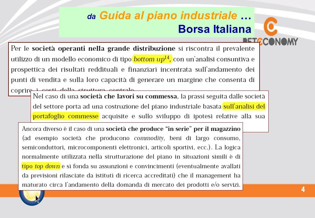 4 da Guida al piano industriale … Borsa Italiana