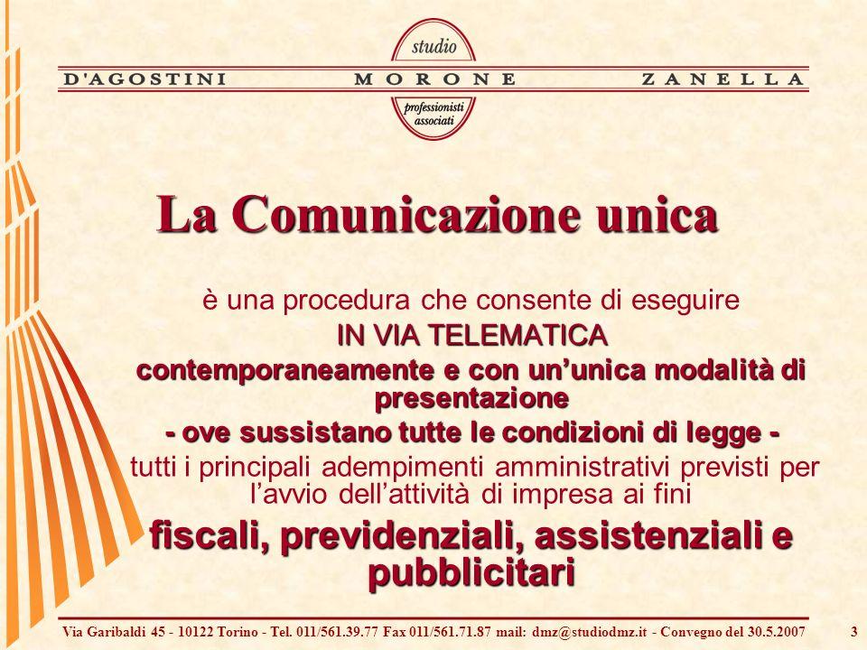 Via Garibaldi 45 - 10122 Torino - Tel. 011/561.39.77 Fax 011/561.71.87 mail: dmz@studiodmz.it - Convegno del 30.5.20073 è una procedura che consente d