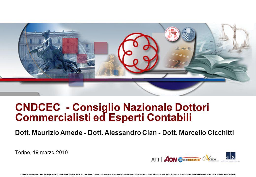 CNDCEC - Consiglio Nazionale Dottori Commercialisti ed Esperti Contabili Ed. 1 - 01/2008