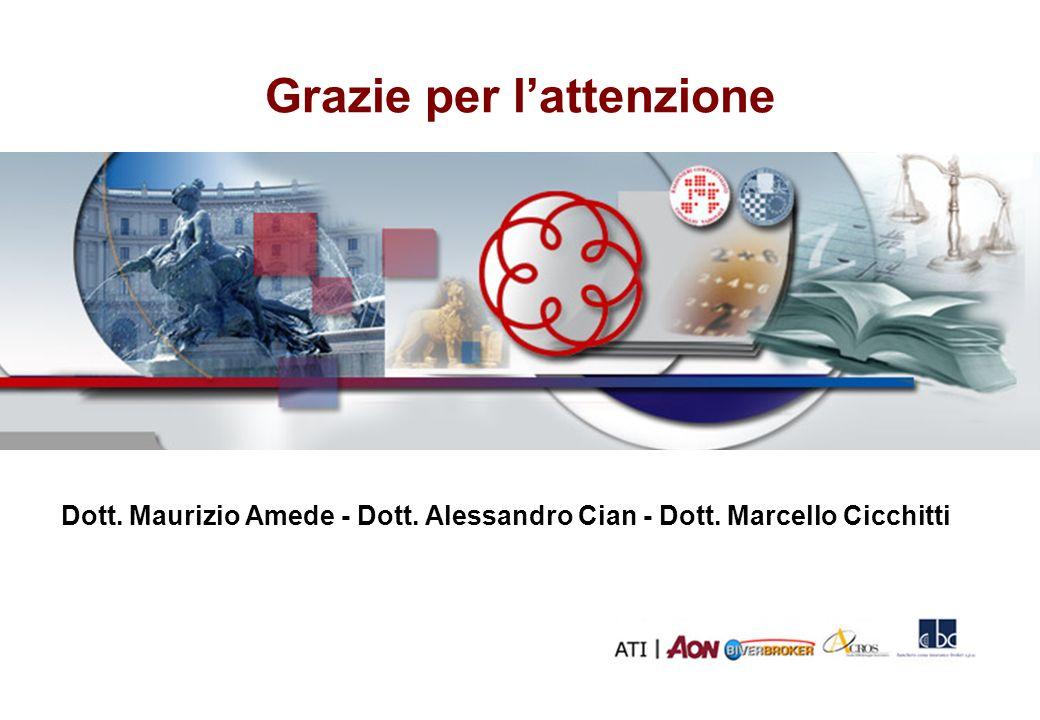 Grazie per lattenzione Ed. 1 - 01/2008 Dott. Maurizio Amede - Dott. Alessandro Cian - Dott. Marcello Cicchitti