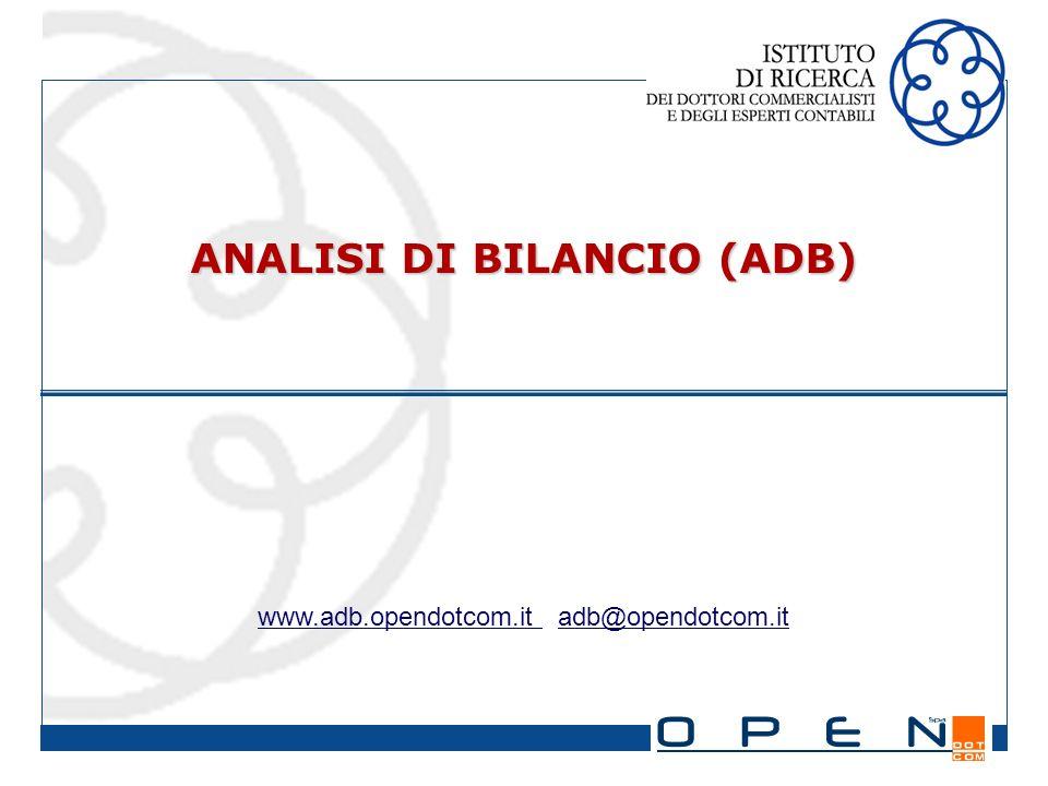 ANALISI DI BILANCIO (ADB) www.adb.opendotcom.it adb@opendotcom.it