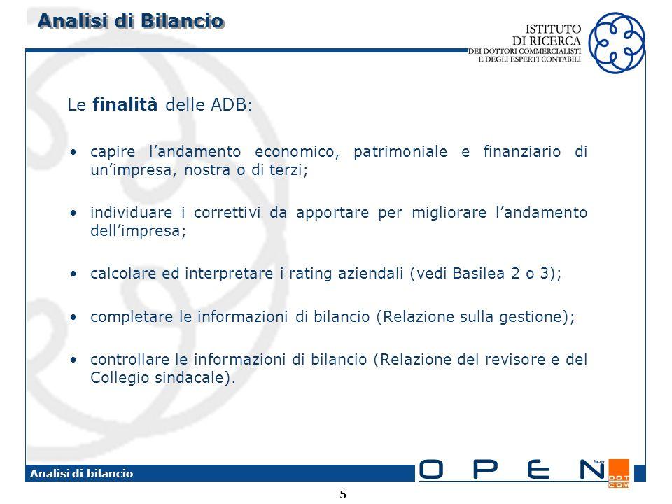 86 Analisi di bilancio INDICE DI ROTAZIONE DEL CAPITALE INVESTITO RICAVI DI VENDITA / TOTALE ATTIVO NUMERATOREDENOMINATORE GRANDEZZAPROVENIENZAGRANDEZZAPROVENIENZA RICAVI di VENDITA A.1 (C.E.) Oppure A.1 + A.3 (C.E.) TOTALE ATTIVO Totale Attivo Stato Patrimoniale Indici di Rotazione