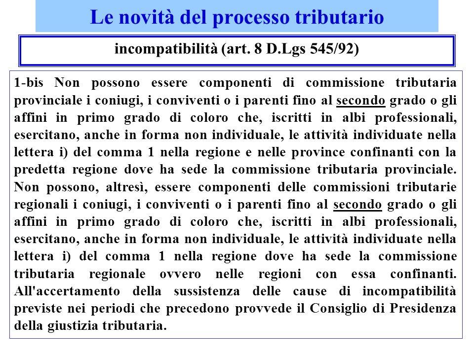 Le novità del processo tributario legal mail – nota discrizione – processo telematico c.