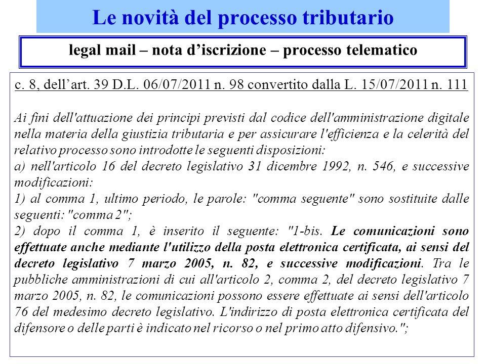 i professionisti e le commissioni tributarie contributo unificato art.