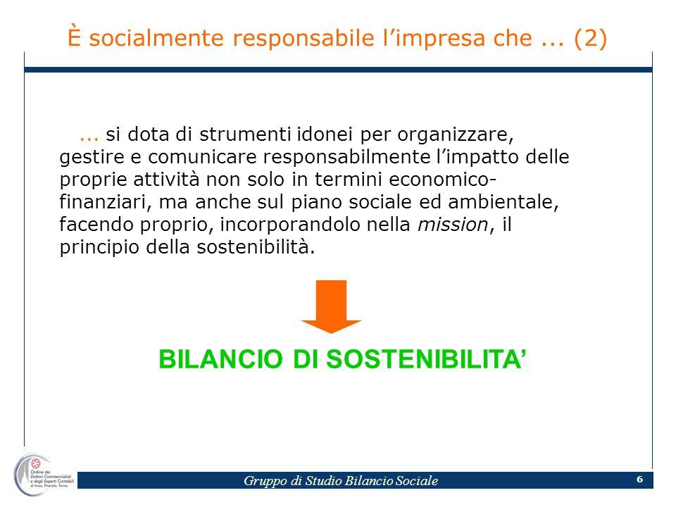 Gruppo di Studio Bilancio Sociale 6...