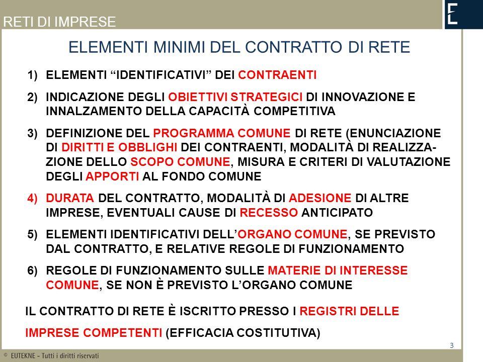 RETI DI IMPRESE RISOLUZIONE DELLAGENZIA DELLE ENTRATE 30.6.2011 N.