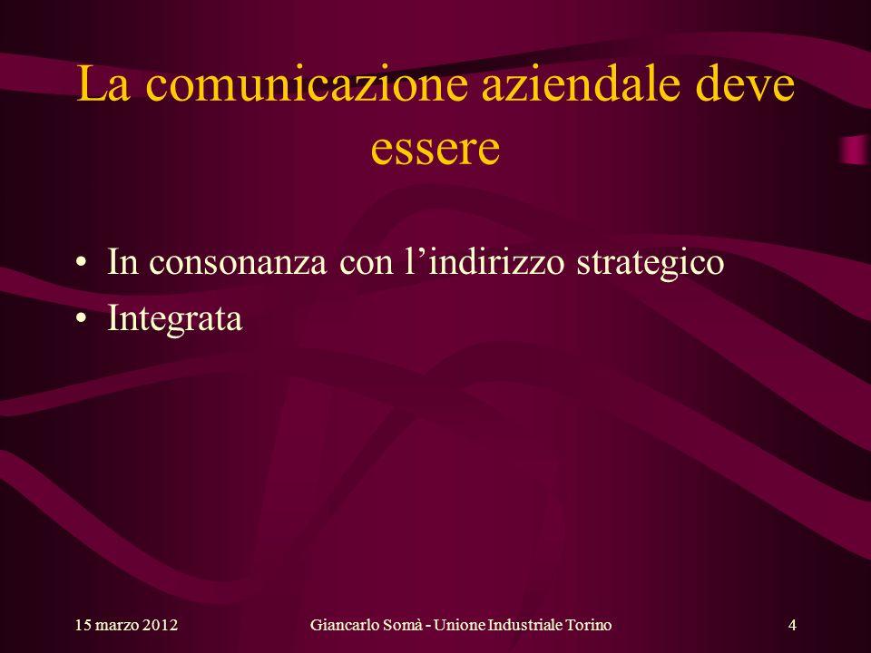 Giancarlo Somà - Unione Industriale Torino15 marzo 20125