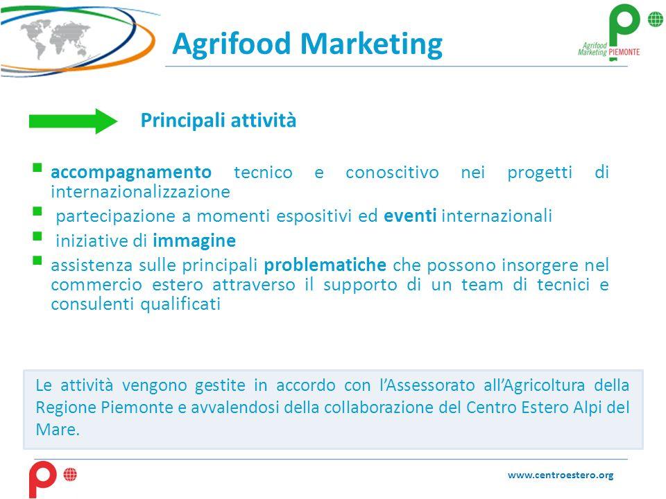 Agrifood Marketing accompagnamento tecnico e conoscitivo nei progetti di internazionalizzazione partecipazione a momenti espositivi ed eventi internaz