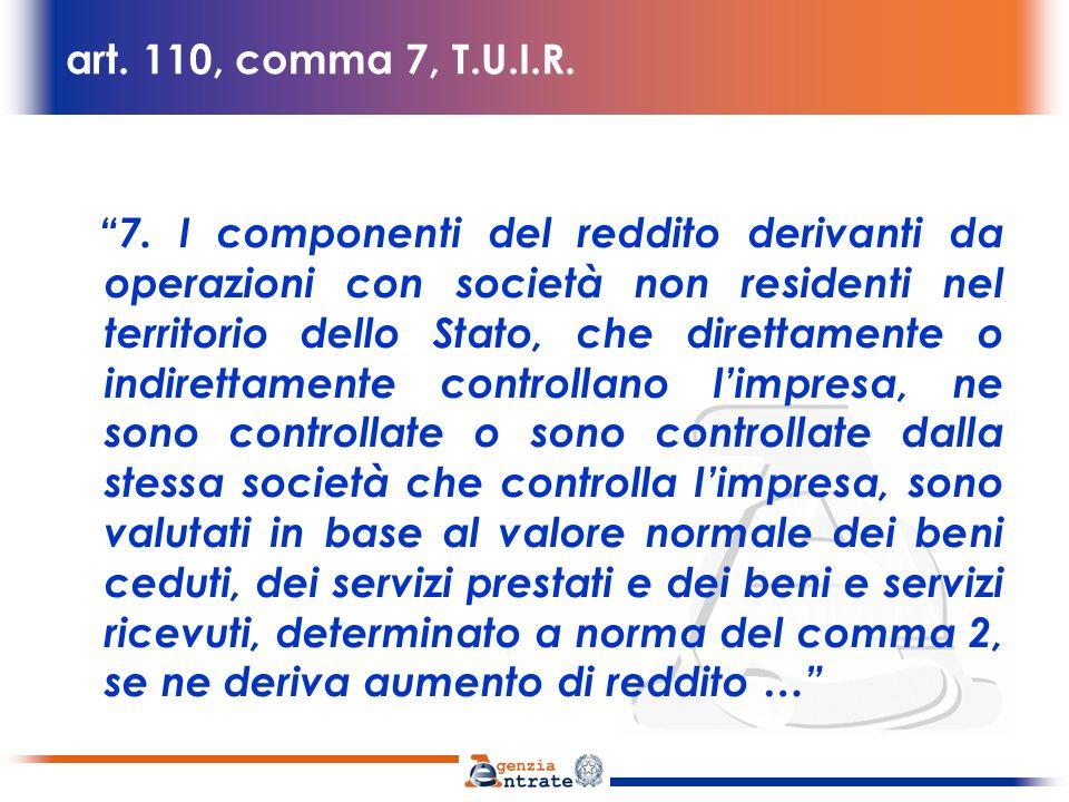 art.110, comma 7, T.U.I.R.